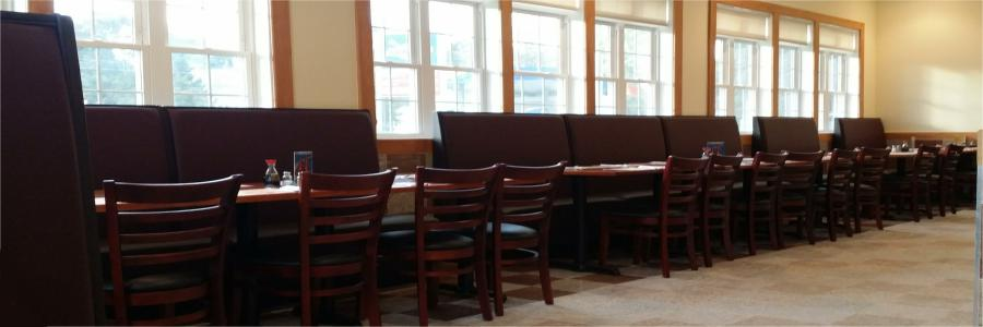 We have plenty of Room for Large Dine-In Parties