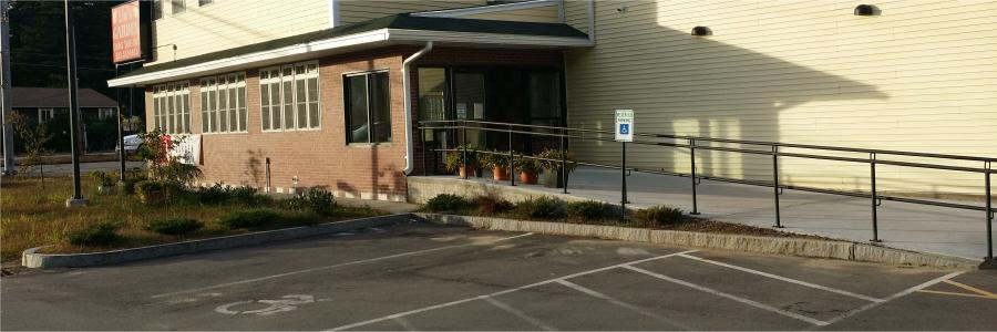 We have several Handicap Parking Spots with Full Access to our Restaurant